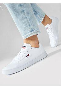 Tommy Jeans Sneakersy Cupsole Sneaker EN0EN01347 Biały. Kolor: biały