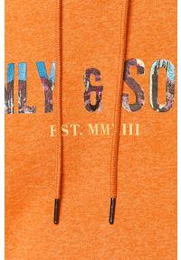 Pomarańczowa bluza nierozpinana Only & Sons z nadrukiem, z kapturem #6