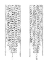 SELFIE JEWELLERY - Kolczyki Beverly Hills. Materiał: srebrne, z mosiądzu. Kolor: srebrny. Wzór: aplikacja. Kamień szlachetny: cyrkonia