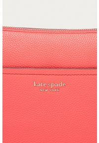 Kate Spade - Torebka skórzana. Kolor: różowy. Materiał: skórzane