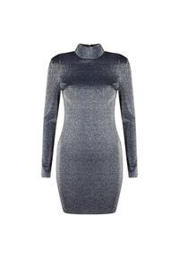 Sukienka Guess z aplikacjami, dopasowana, z długim rękawem