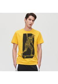Żółty t-shirt Cropp