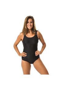 NABAIJI - Strój jednoczęściowy do gimnastyki w wodzie damski Nabaiji Doli. Kolor: czarny. Materiał: poliester, poliamid, materiał, elastan