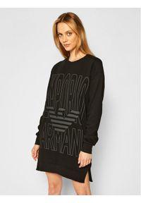 Czarna sukienka dzianinowa Emporio Armani Underwear