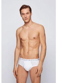 Białe majtki BOSS gładkie