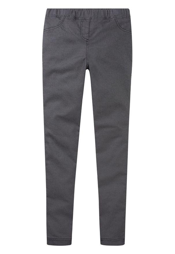 Szare jeansy bonprix w kolorowe wzory