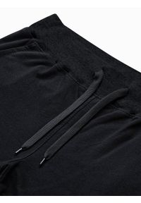 Ombre Clothing - Krótkie spodenki męskie dresowe P29 - czarne - XXL. Okazja: na co dzień. Kolor: czarny. Materiał: dresówka. Długość: krótkie. Styl: casual