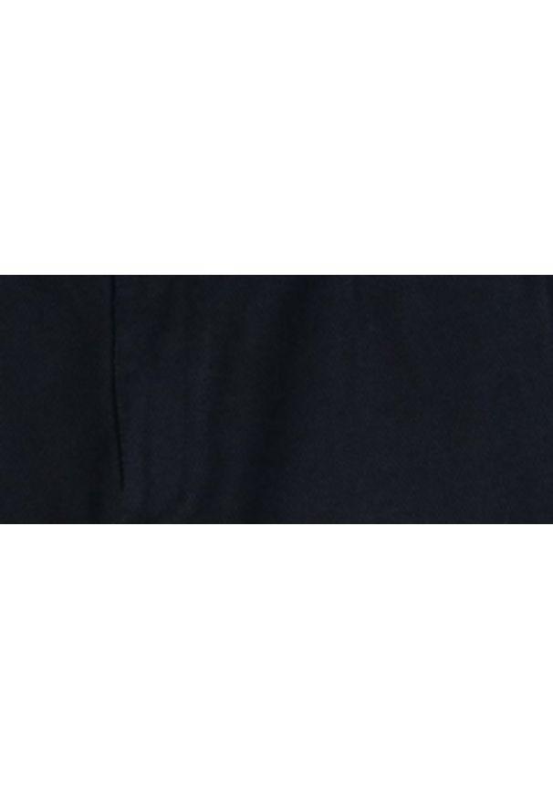 Niebieskie spodnie TOP SECRET w kolorowe wzory, do pracy, długie, na lato