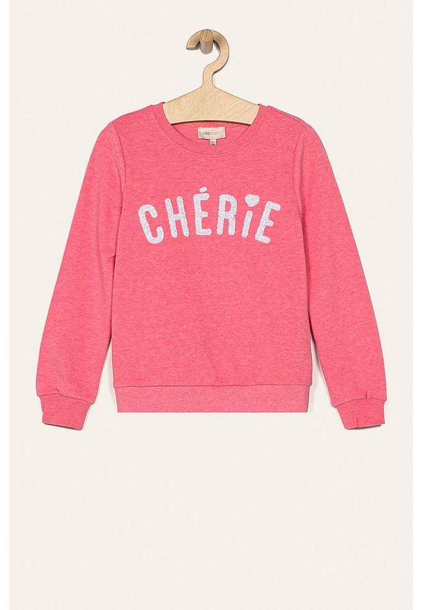 Różowa bluza Kids Only bez kaptura, casualowa