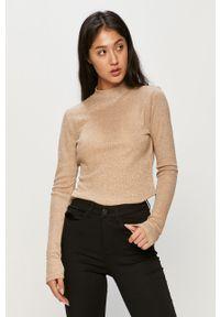 Sweter only casualowy, z okrągłym kołnierzem