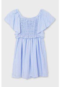 Niebieska sukienka Mayoral mini, rozkloszowana