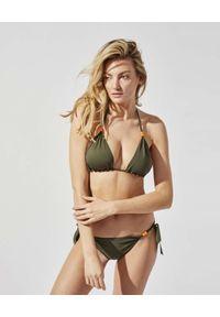 PRAIA BEACHWEAR - Zielone bikini Survivor. Kolor: zielony. Materiał: tkanina, jedwab, materiał