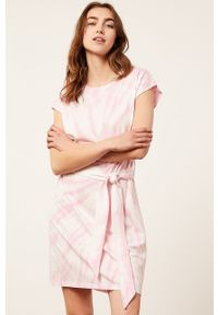 Etam - Koszula nocna FASIL. Kolor: różowy. Materiał: dzianina. Długość: krótkie