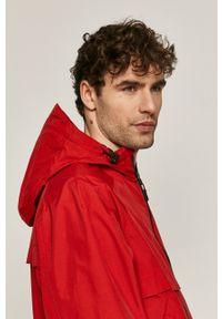 Czerwona kurtka medicine na co dzień, casualowa, gładkie, z kapturem