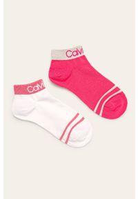 Różowe skarpetki Calvin Klein z aplikacjami