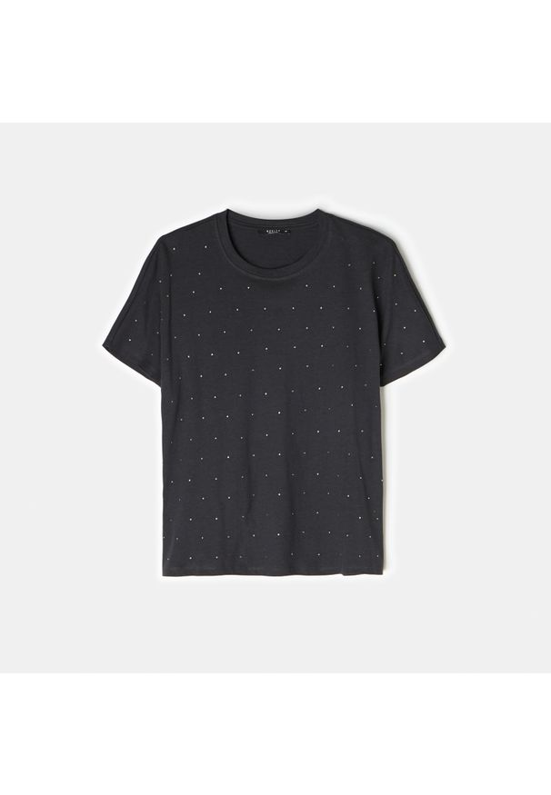 Szary t-shirt Mohito z aplikacjami