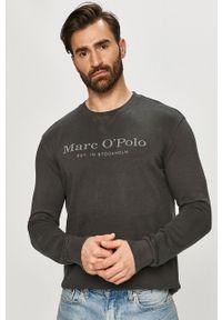 Marc O'Polo - Bluza bawełniana. Okazja: na co dzień. Typ kołnierza: polo. Kolor: szary. Materiał: bawełna. Styl: casual