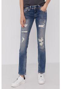 Pepe Jeans - Jeansy Saturn. Kolor: niebieski