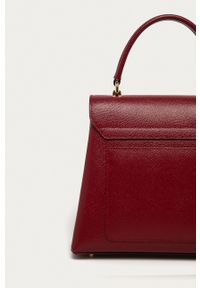 Furla - Torebka skórzana 1927. Kolor: czerwony. Materiał: skórzane. Rodzaj torebki: na ramię