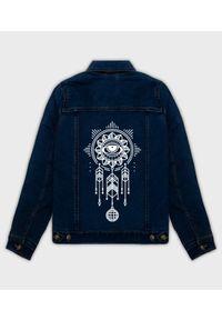 MegaKoszulki - Kurtka jeansowa damska Dreamcatcher. Materiał: jeans. Wzór: nadruk. Sezon: wiosna. Styl: klasyczny