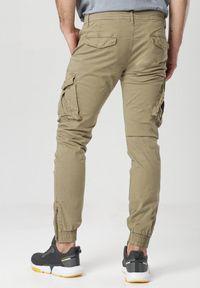 Born2be - Khaki Spodnie Kleodone. Kolor: brązowy. Materiał: materiał, prążkowany. Długość: długie. Wzór: gładki. Styl: klasyczny