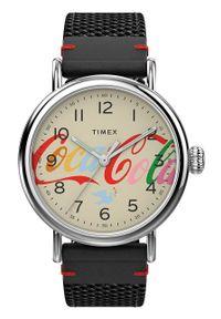 Timex - Zegarek TW2V26000. Kolor: srebrny. Materiał: skóra, materiał