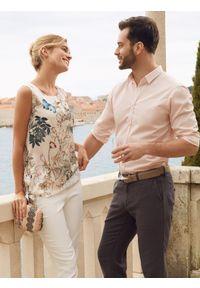 Różowa koszula TOP SECRET na lato, w kolorowe wzory