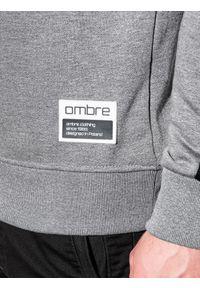 Szara bluza Ombre Clothing melanż, bez kaptura
