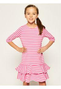 Różowa sukienka Polo Ralph Lauren casualowa, na co dzień, prosta