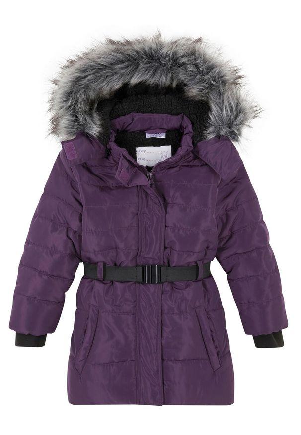 Fioletowy płaszcz bonprix na zimę