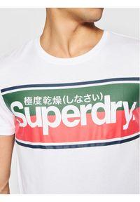Superdry T-Shirt Core Logo Stripe M1010159B Biały Regular Fit. Kolor: biały