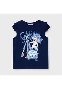 Mayoral T-Shirt 3013 Granatowy Regular Fit. Kolor: niebieski