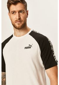 Biały t-shirt Puma z nadrukiem, na co dzień, casualowy