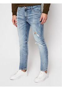 Guess Jeansy Skinny Fit Miami M0YAN1 D4323 Niebieski Skinny Fit. Kolor: niebieski. Materiał: jeans