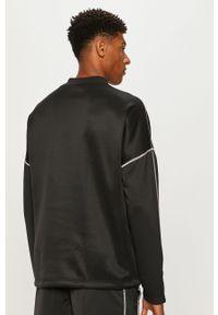 Czarna bluza nierozpinana Reebok casualowa, z okrągłym kołnierzem, na co dzień