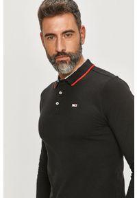 Czarna koszulka z długim rękawem Tommy Jeans na co dzień, casualowa