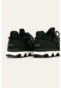 Czarne buty sportowe sorel na sznurówki, z cholewką