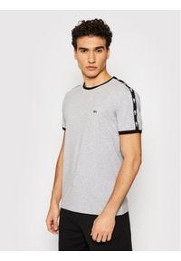 Lacoste T-Shirt TH0146 Szary Regular Fit. Kolor: szary