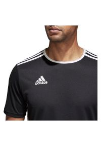 Adidas - Koszulka piłkarska męska adidas Entrada 18 CF1035. Materiał: dzianina, skóra, materiał, poliester. Technologia: ClimaLite (Adidas). Wzór: ze splotem. Sport: piłka nożna