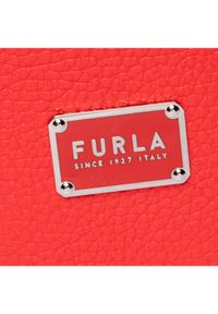 Czerwona torebka worek Furla #7