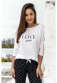 Sensis - Piżama In Love. Kolor: różowy. Wzór: nadruk