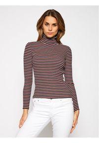 Lee Golf Ls Striped L40SYLOM Kolorowy Slim Fit. Typ kołnierza: golf. Wzór: kolorowy