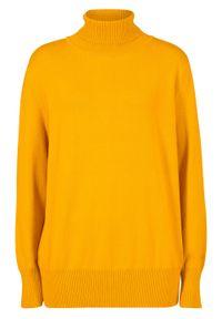 Żółty sweter bonprix z golfem