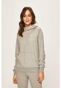 Szara bluza Nike Sportswear raglanowy rękaw, z kapturem