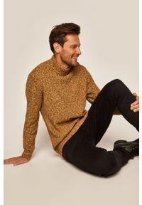Żółty sweter medicine casualowy, na co dzień