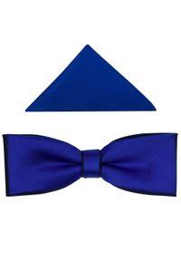Modini - Niebiesko-granatowa mucha slim kobaltowa B38. Kolor: niebieski. Materiał: tkanina, poliester. Styl: elegancki