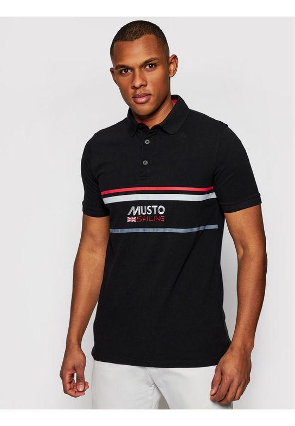 Musto Polo Amalfi 82017 Czarny Regular Fit. Typ kołnierza: polo. Kolor: czarny