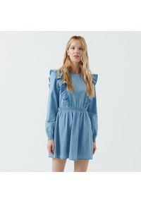 Niebieska sukienka Cropp