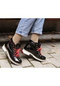 Czerwone botki Zapato na zimę, na obcasie