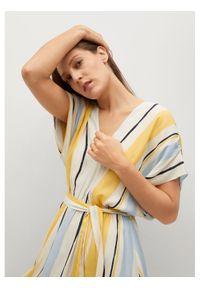 Sukienka letnia mango prosta, w kolorowe wzory, na co dzień, casualowa